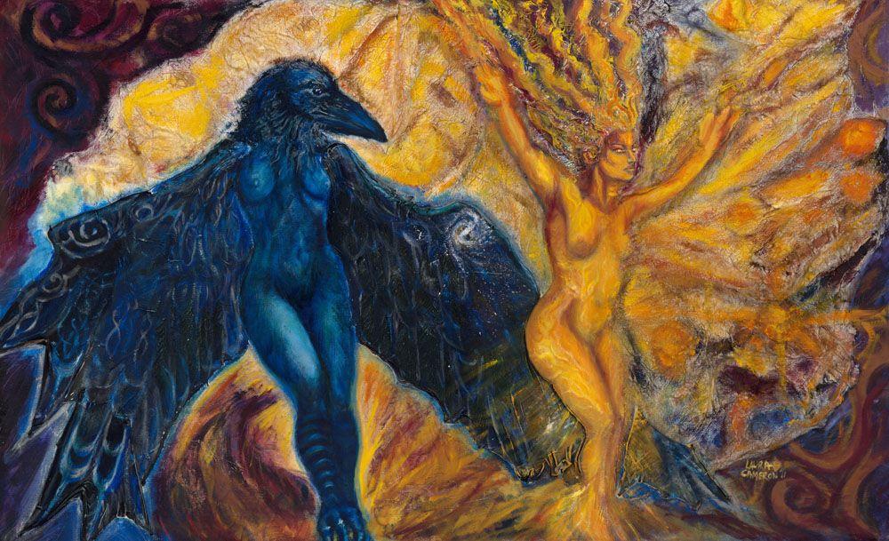 Raven and the Sun Goddess