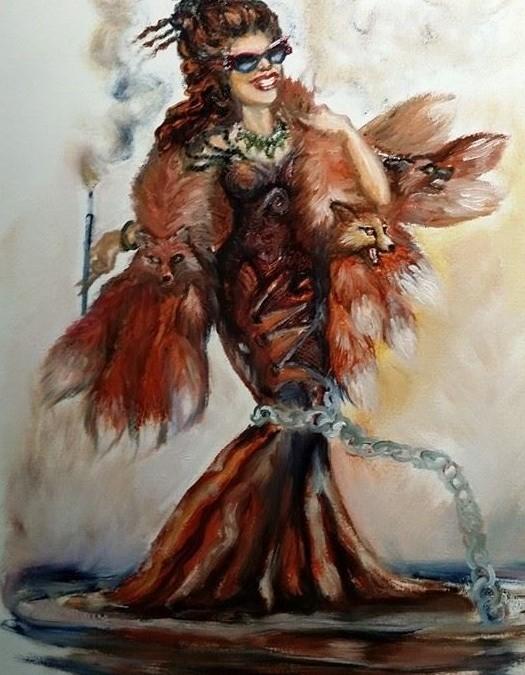 Lady in Fox Fur, or the Devil